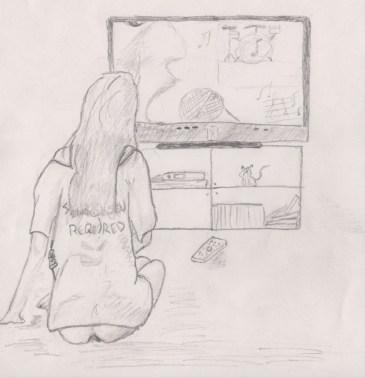 nude-watching-tv